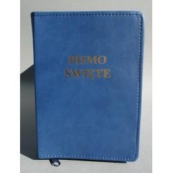 ŚREDNIA BIBLIA miękka oprawa napis niebieski z fakturą R
