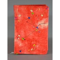 ŚREDNIA BIBLIA twarda oprawa czerwona z kwiatkami