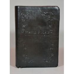 ŚREDNIA BIBLIA twarda oprawa napis i wzorek 2 czarna