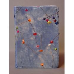 ŚREDNIA BIBLIA twarda oprawa niebieska z kwiatkami