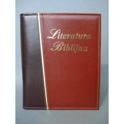 LITERATURA BIBLIJNA złoty pasek brązowa