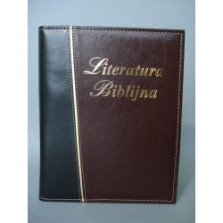 LITERATURA BIBLIJNA złoty pasek brąz / czarny