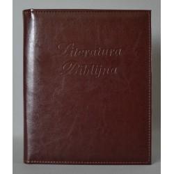 LITERATURA BIBLIJNA z folią ciemny brąz