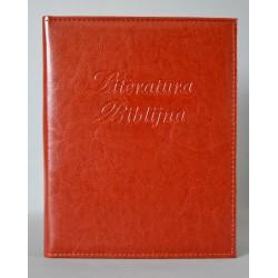 LITERATURA BIBLIJNA z folią brąz miodowy