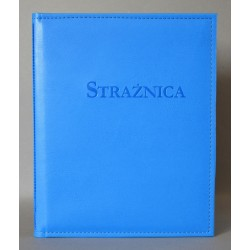 STRAŻNICA niebieska z kieszenią i folią z+k