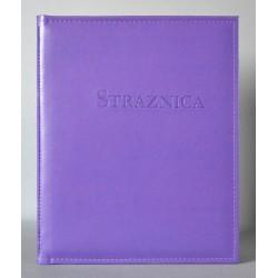 STRAŻNICA fioletowa z kieszenią i folią z+k
