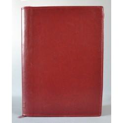 LITERATURA BIBLIJNA z zamkiem i folią bez napisu ciemne bordo 2