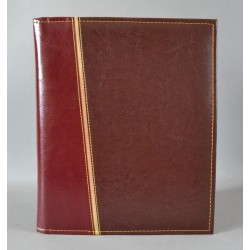 LITERATURA BIBLIJNA bez napisu złoty pasek ciemny brąz / ciemne bordo
