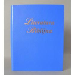 LITERATURA BIBLIJNA introkal z folią ciemny niebieski