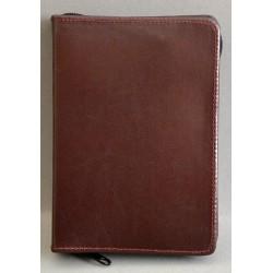 ŚREDNIA BIBLIA twarda oprawa bez napisu i wzoru ciemny brąz