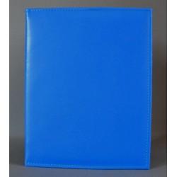 DUŻA OKŁADKA bez napisu z kieszenią niebieska