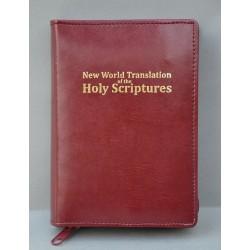 ŚREDNIA BIBLIA twarda oprawa napis złocony bez wzoru ciemne bordo ANG