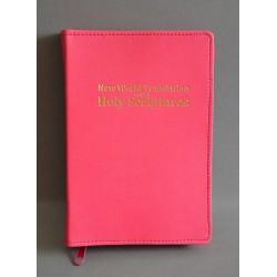 ŚREDNIA BIBLIA twarda oprawa napis złocony bez wzoru róż ANG