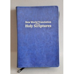 ŚREDNIA BIBLIA twarda oprawa napis złocony bez wzoru granat z fakturą ANG