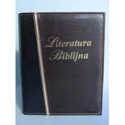 LITERATURA BIBLIJNA z folią złoty pasek brąz canion/ czarny R