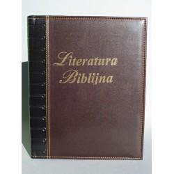 LITERATURA BIBLIJNA z folią i tłoczeniem na grzbiecie brąz canion/czarny R