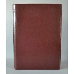 LITERATURA BIBLIJNA z zamkiem i folią bez napisu ciemny brąz