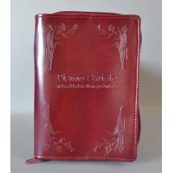 ŚREDNIA BIBLIA twarda oprawa nieusztywniana ciemne bordo 3 R
