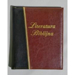 LITERATURA BIBLIJNA z folią złoty pasek ciemny brąz/czarny