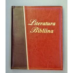 LITERATURA BIBLIJNA z folią złoty pasek miodowy brąz/ciemny brąz
