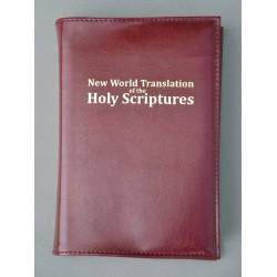 ŚREDNIA BIBLIA twarda oprawa nieusztywniana bez zamka (napis złocony) ciemne bordo ANG