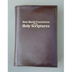ŚREDNIA BIBLIA twarda oprawa nieusztywniana bez zamka (napis złocony) ciemny brąz ANG