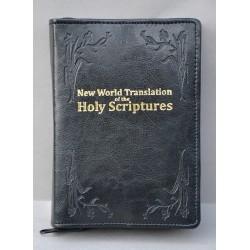 ŚREDNIA BIBLIA miękka oprawa napis złocony i wzór czarna ANG