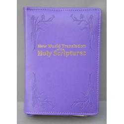 ŚREDNIA BIBLIA miękka oprawa napis złocony i wzór granatowa ANG