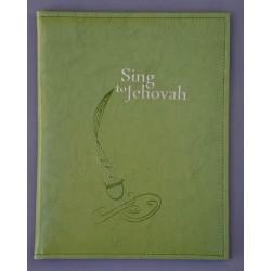 DUŻY ŚPIEWNIK ze złotym napisem i wzorkiem jasna zieleń ANG