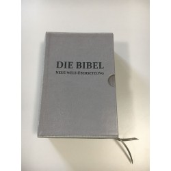 WSUWKA BIBLIA NOWA (2018) jasny szary, napis Niemiecki